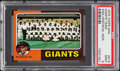 Baseball Cards:Singles (1970-Now), 1975 Topps Mini Giants Team #216 PSA Mint 9....