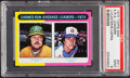 Baseball Cards:Singles (1970-Now), 1975 Topps Mini ERA Leaders Hunter/Capra #311 PSA Mint 9....