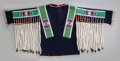 American Indian Art:Beadwork and Quillwork, A Plateau Beaded Hide and Cloth Shirt. c. 1885...