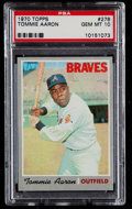 Baseball Cards:Singles (1970-Now), 1970 Topps Tommie Aaron #278 PSA Gem Mint 10....