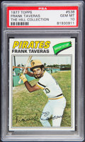 Baseball Cards:Singles (1970-Now), 1977 Topps Frank Taveras #538 PSA Gem Mint 10 - Pop Three....