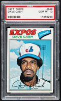 Baseball Cards:Singles (1970-Now), 1977 Topps Dave Cash #649 PSA Gem Mint 10....