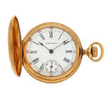 Timepieces:Pocket (post 1900), Waltham 14k Gold Ladies Pocket Watch. ...