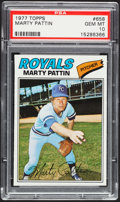 Baseball Cards:Singles (1970-Now), 1977 Topps Marty Pattin #658 PSA Gem Mint 10 - Pop Two. ...