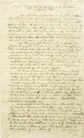 """Autographs:Authors, Great Content Manuscript Entitled """"Narrative of my Rafting Expedition with Th. Stevens in Spring 1831"""", 8 pages, 8"""" x 13"""", n..."""