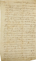 Autographs:Military Figures, Two Letters Penned By Early American Military Officers, as follows: . Captain Corn (elius?) Lyman Autograph Letter Signed,...