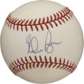 Autographs:Baseballs, Nolan Ryan Single Signed Baseball. Holding or tying more MLBrecords than any other player in the history of baseball, Nola...