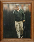 Golf Collectibles:Autographs, Sam Snead Signed Color Photograph. Crowned the Masters Championthree times, the PGA champ, three times, and winner of the ...