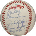 Autographs:Baseballs, 1998 New York Yankees Team Signed Baseball. Back to back WorldSeries Champions (and they'd do it again in 2000!). Represen...
