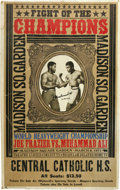 Boxing Collectibles:Autographs, Muhammad Ali Signed Fight Poster. Ali and Frazier met in the ringon March 8, 1971, at Madison Square Garden. The fight, kn...