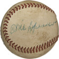 Autographs:Baseballs, Tris Speaker/ Steve O'Neill/ Al Rosen Signed Baseball. Thisbeautifully preserved official baseball has a definite Clevelan...