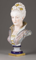 Ceramics & Porcelain, A French Ceramic Bust. . Paul Duboy (1830-1887), French . Late 19th century. Ceramic with polychrome enamel. Marks: Signed ...