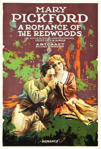 "Romance of the Redwoods (Paramount-Artcraft, 1917). One Sheet (27.75"" X 40.75"")"