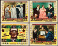 """Movie Posters:Horror, Son of Frankenstein/Bride of Frankenstein Combo (Realart, R-1953).Title Lobby Card and Lobby Cards (3) (11"""" X 14"""").. ... (Total: 4Items)"""