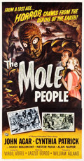 "Movie Posters:Science Fiction, The Mole People (Universal International, 1956). Three Sheet (4.25""X 78.5"").. ..."