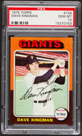 Baseball Cards:Singles (1970-Now), 1975 Topps Dave Kingman #156 PSA Gem Mint 10 - Pop Three....
