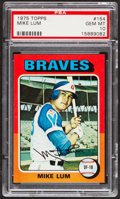 Baseball Cards:Singles (1970-Now), 1975 Topps Mike Lum #154 PSA Gem Mint 10....
