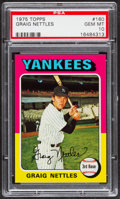 Baseball Cards:Singles (1970-Now), 1975 Topps Graig Nettles #160 PSA Gem Mint 10....