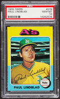 Baseball Cards:Singles (1970-Now), 1975 Topps Paul Lindblad #278 PSA Gem Mint 10....