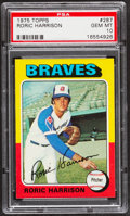 Baseball Cards:Singles (1970-Now), 1975 Topps Roric Harrison #287 PSA Gem Mint 10....