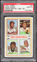 Baseball Cards:Singles (1970-Now), 1974 Topps Hank Aaron #4 PSA Mint 9....