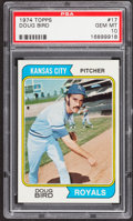 Baseball Cards:Singles (1970-Now), 1974 Topps Doug Bird #17 PSA Gem Mint 10 - Pop Four....