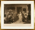 Books:Prints & Leaves, T. H. Matteson, American artist (1813-1884). Engraving ProofEntitled, The First Prayer in Congress. New York: J...