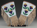 American Indian Art:Beadwork and Quillwork, A Pair of Plateau Beaded Hide Gauntlets. c. 1900. ... (Total: 2 )