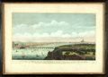 Books:Prints & Leaves, John Boydell. Nineteenth-Century Hand-Colored Engraving Entitled,A View of London Taken Off Lambeth Church. Lon...