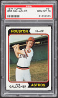 Baseball Cards:Singles (1970-Now), 1974 Topps Bob Gallagher #21 PSA Gem Mint 10....