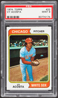 Baseball Cards:Singles (1970-Now), 1974 Topps Cy Acosta #22 PSA Mint 9....