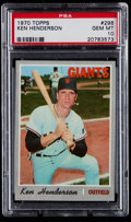 Baseball Cards:Singles (1970-Now), 1970 Topps Ken Henderson #298 PSA Gem Mint 10 - Pop Four....