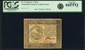 Colonial Notes:Continental Congress Issues, Continental Currency April 11, 1778 $6 Yorktown Issue Fr. CC-73. PCGS Gem New 66PPQ. . ...
