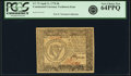 Colonial Notes:Continental Congress Issues, Continental Currency April 11, 1778 $8 Yorktown Issue Fr. CC-75. PCGS Very Choice New 64PPQ. . ...