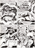 Original Comic Art:Panel Pages, Jack Kirby and Barry Smith Marvel Treasury Special FeaturingCaptain America's Bicentennial Battles #1 Page 10 Ori...