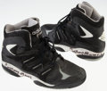 Basketball Collectibles:Others, 1990's Anthony Mason Game Worn Signed Shoes. ...