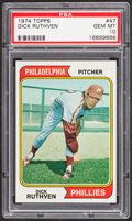 Baseball Cards:Singles (1970-Now), 1974 Topps Dick Ruthven #47 PSA Gem Mint 10 - Pop Four....