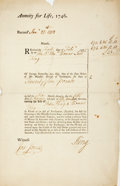 Autographs:Non-American, British Life Insurance Annuity Dated February 1st, 1772. Signed byThomas and Peter King. Krown & Spellman retail: $75. ...