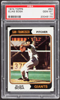 Baseball Cards:Singles (1970-Now), 1974 Topps Elias Sosa #54 PSA Gem Mint 10 - Pop Two....