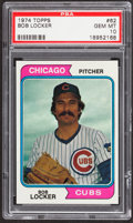 Baseball Cards:Singles (1970-Now), 1974 Topps Bob Locker #62 PSA Gem Mint 10....