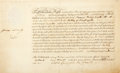 Autographs:Non-American, Sir George Pretyman Tomline (Bishop of Lincoln). Document Signedand Dated August, 13th, 1801 Admitting Thomas Ridge into the ...