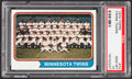 Baseball Cards:Singles (1970-Now), 1974 Topps Twins Teams #74 PSA Gem Mint 10....
