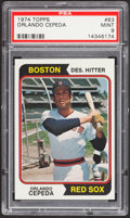 Baseball Cards:Singles (1970-Now), 1974 Topps Orlando Cepeda #83 PSA Mint 9....