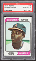 Baseball Cards:Singles (1970-Now), 1974 Topps Mickey Rivers #76 PSA Gem Mint 10....