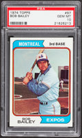 Baseball Cards:Singles (1970-Now), 1974 Topps Bob Bailey #97 PSA Gem Mint 10 - Pop Four....