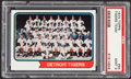Baseball Cards:Singles (1970-Now), 1974 Topps Tigers Team #94 PSA Mint 9....