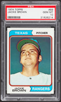 Baseball Cards:Singles (1970-Now), 1974 Topps Jackie Brown #89 PSA Gem Mint 10....
