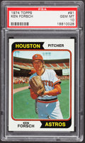Baseball Cards:Singles (1970-Now), 1974 Topps Ken Forsch #91 PSA Gem Mint 10....