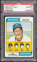 Baseball Cards:Singles (1970-Now), 1974 Topps Brewers Mgr./Coaches #99 PSA Gem Mint 10....