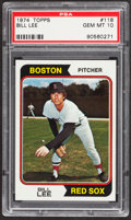 Baseball Cards:Singles (1970-Now), 1974 Topps Bill Lee #118 PSA Gem Mint 10....
